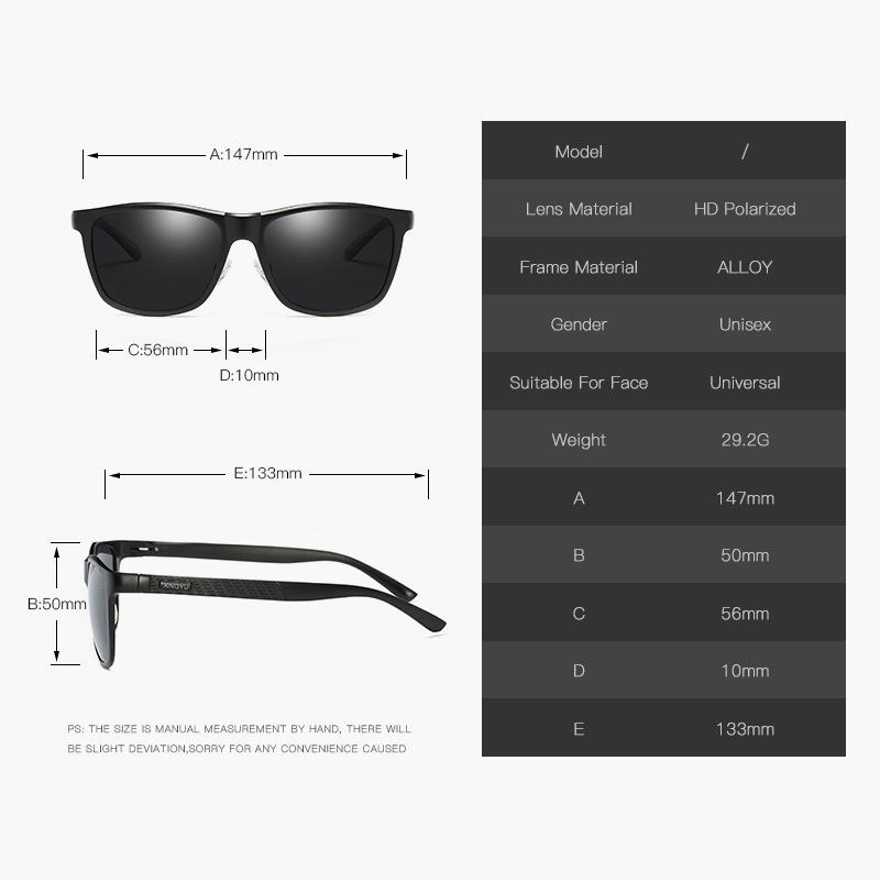 Bruno dunn Sunglasses Men Polarized 2020 Luxury Brand square metal frame male sun glasses oculos de sol masculino 2140 ray uv400 5