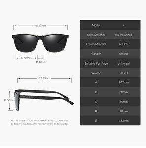 Image 5 - Bruno dunn Sunglasses Men Polarized 2020 Luxury Brand square metal frame male sun glasses oculos de sol masculino 2140 ray uv400