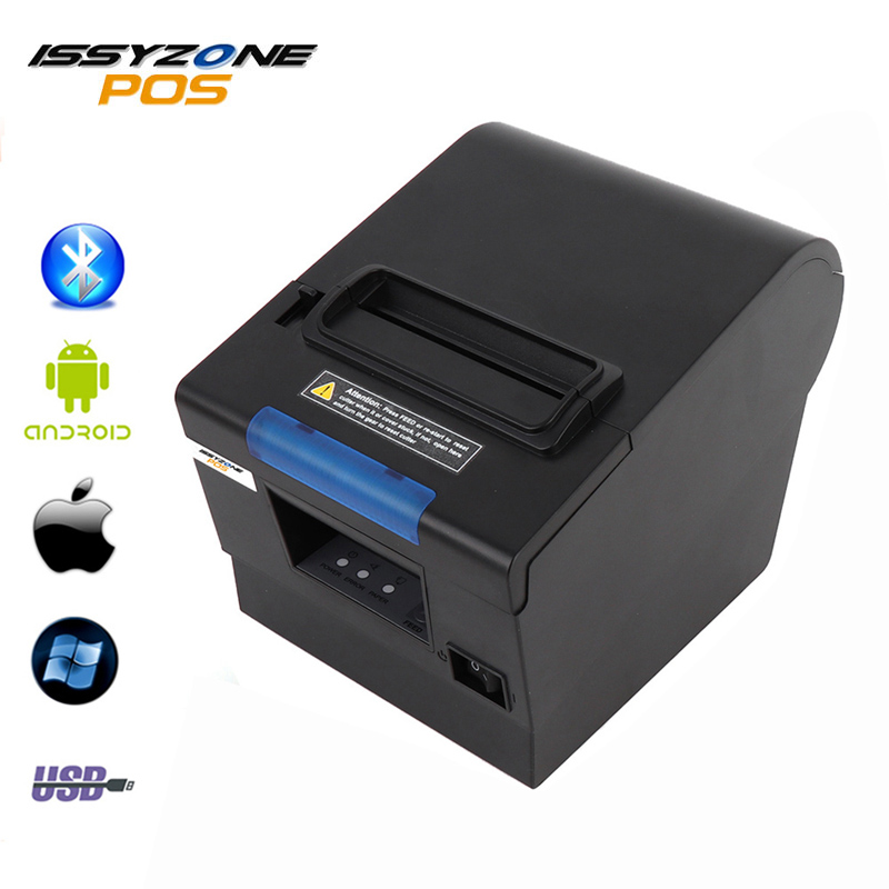 ISSYZONEPOS Thermal Printer 80mm Receipt Small Ticket Barcode Pos Printer Auto Cutting Machine Printer Support USB+Serial/LAN label sticker receipt printer barcode qr code small ticket bill pos printer support 20 80mm width print speed very fast