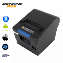 цена ISSYZONEPOS Thermal Receipt Kitchen Printer 80mm Small Ticket Barcode POS Printer Auto Cutting Printer Support USB+Serial/LAN онлайн в 2017 году