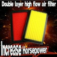 Filtros de ar híbridos super do filtro de ar do fluxo alto do auto do filtro de ar do carro da dupla camada 1x para toyota highlander 3.0l v6 2001-2003