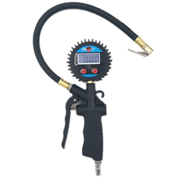 Digital Car EU Tire Air Pressure Inflator Gauge LCD Display LED Backlight Vehicle Tester Inflation Monitoring Manometro