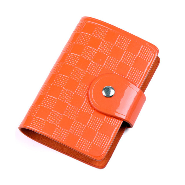 Mance Hot Sale 20 Bits Quality PU Leather Fashion Credit Card Holder Buckle ID Holders Package Organizer For Women Men