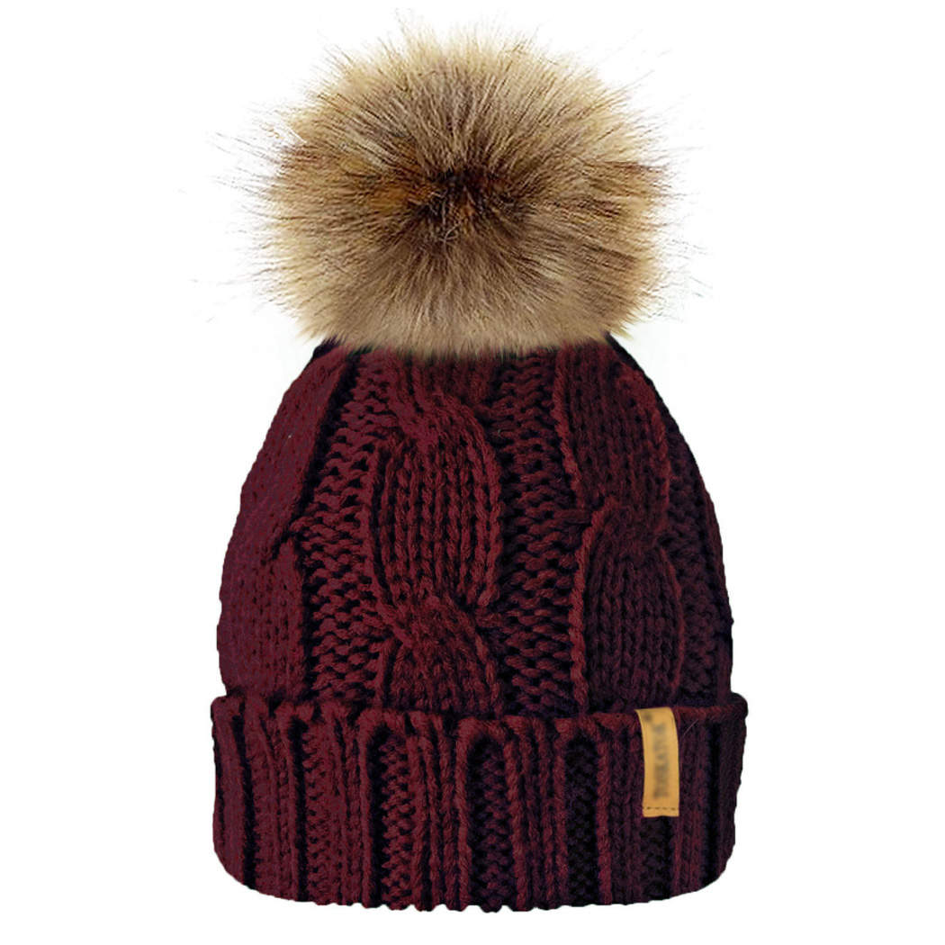Winter Hat Knit Beanie Winter Baby Hat For Children Fur Pom Pom Hats For Girls Boys