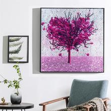 DIY Full Diamond Cartoon Painting Special Shaped Rhinestone Embroidery Japanese landscape Love tree creative gift
