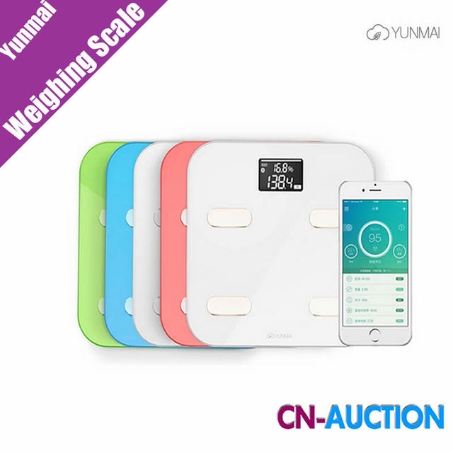 Original Yunmai Cor Inteligente Balança Digital Escala de Peso Escala de Saúde Escala de Gordura Corporal IOS8.0 Android4.3 Bluetooth 4.0 (Branco)