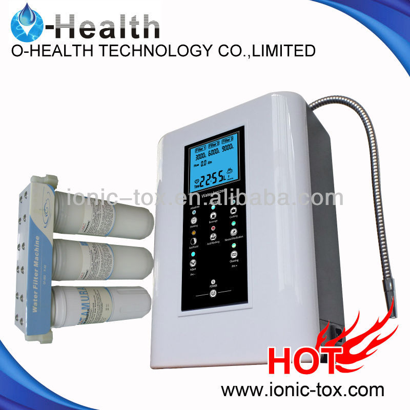 3 plates titanium water filter ionizer with 3 stage pre-filter from Guangzhou OH-806-3W 2016 brand new water ionizer filter with 3 plates and hot sale with best price 5pcs lot free shipping oh 806 3w