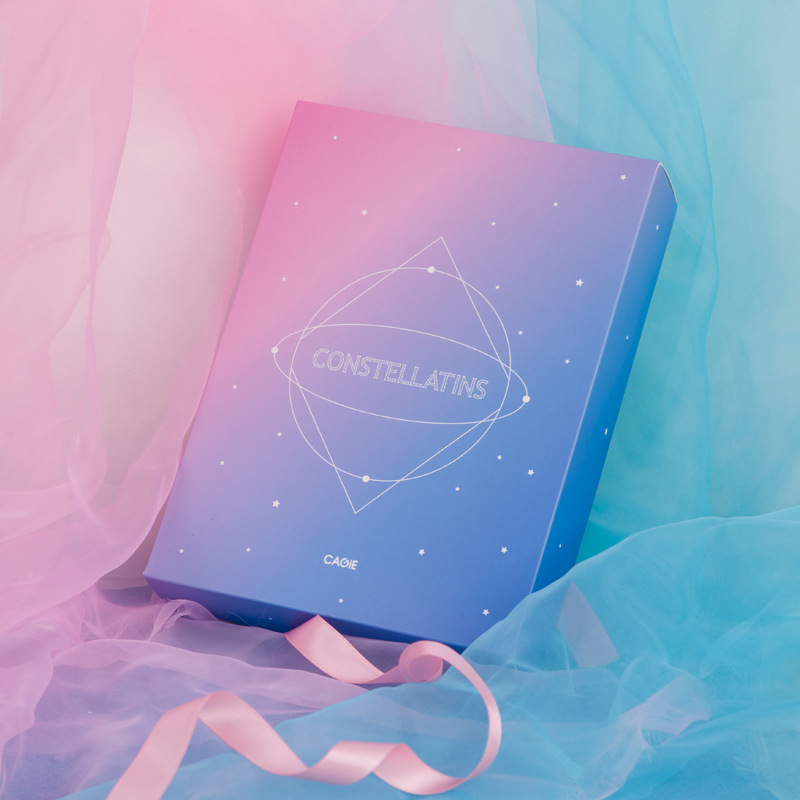 Image 4 - Kawaii B6 Notebook Set PU Creative Cute Constellation Planner Dividers Code Lock Note Books Personal Travel Journal Diary Book-in Notebooks from Office & School Supplies