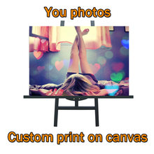 Customized Canvas Posters and Prints Photos Family Photo Anime Movie Sex Landscape Customized for Your Home Wall Decor No Frame(China)
