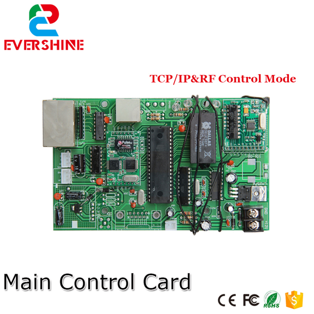 US $33 8 |Main Control Card 12V TCP/IP Gas Oil Price LED sign Control Board  Use for All Size Led Digital Number For Gas Station-in LED Modules from