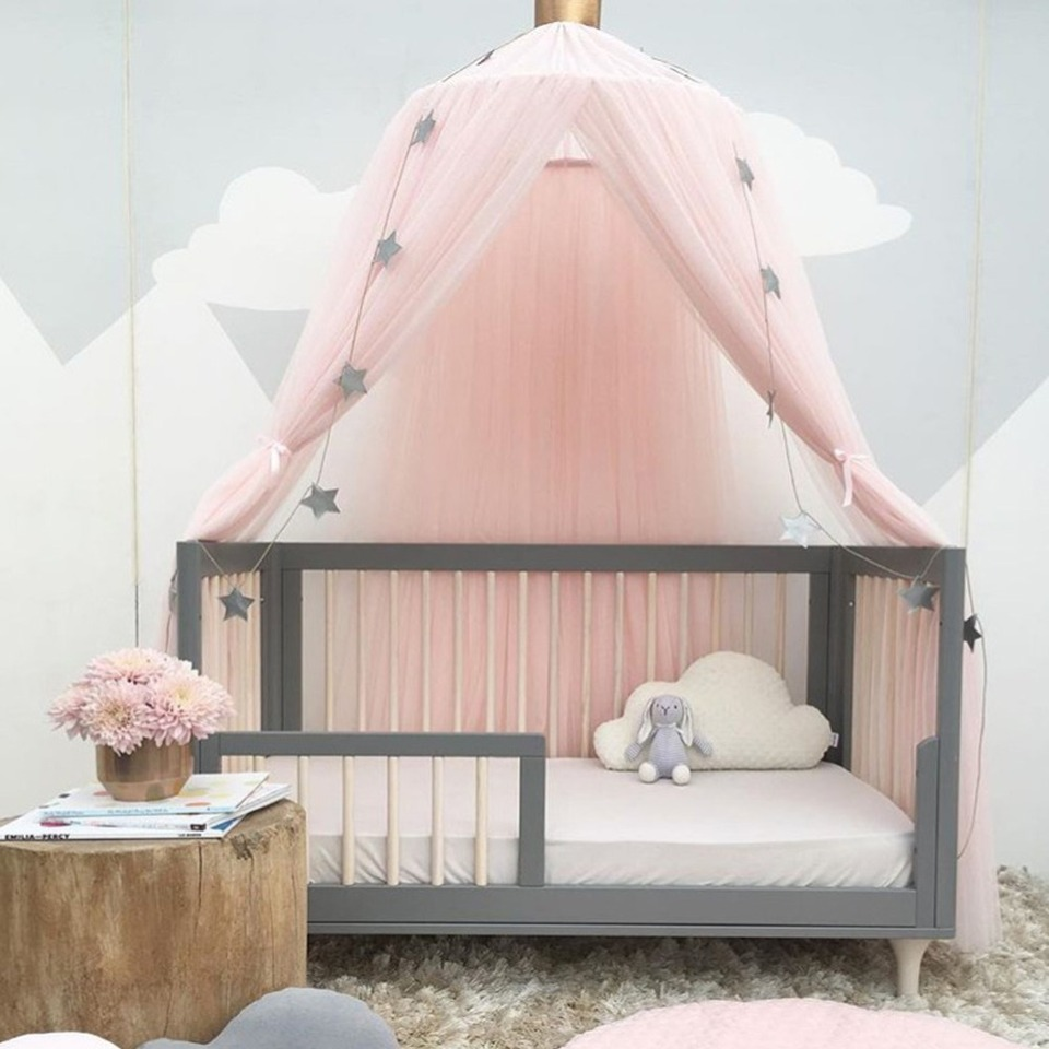 - Kids Baby Princess Bed Canopy Bedcover Mosquito Net Curtain