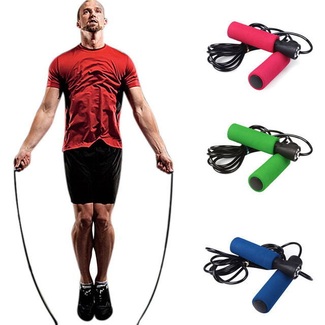 2.5m Aerobic Exercise Skipping Jump Rope Adjustable For Gym Lose Weight Exercise Fitnesss Equipment Bearing Speed Fitness #616