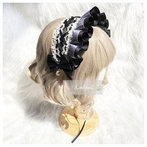 Image 3 - Zoete Handgemaakte Lolita Motorkap Hoofdtooi Lace Hoofddeksel