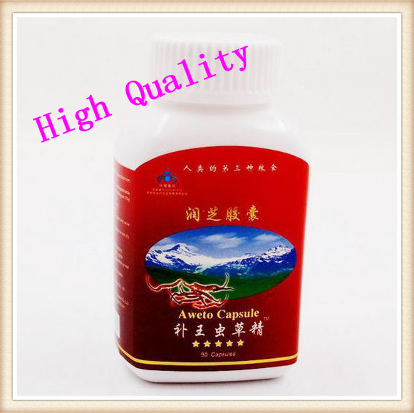 12 bottles/lot aweto capsules cordyceps sinensis cleaner lung improve respiratory strength