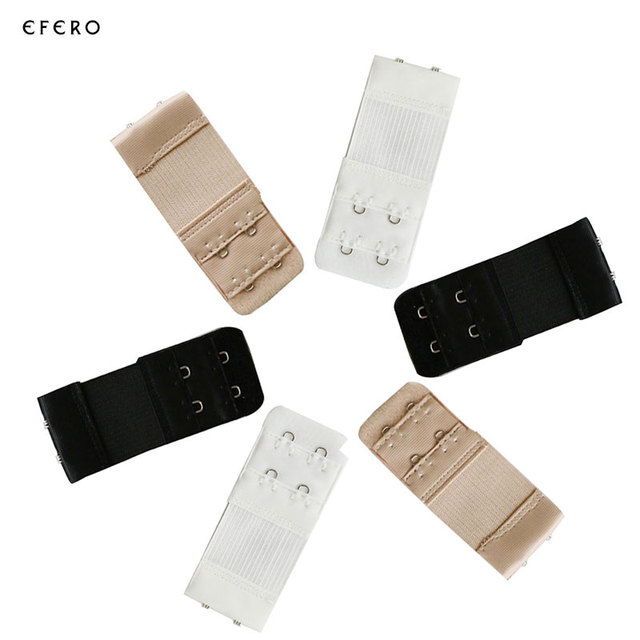 3pcs Women Bra Strap Extender 2 Rows 2 Hooks Bra Extenders Clasp Strap Sewing Tools Intimates Bra Accessories Brasier Invisible