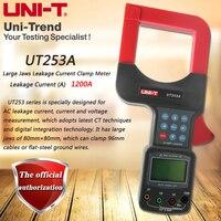 Large UT253A большие диаметральные токовые клещи измеритель тока утечки, 1200A с зажимом для хранения данных с ЖК подсветкой RS 232 передача данных