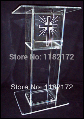 Free Shipping/Transparent Acrylic Lectern Podium/.acrylic Podium Pulpit Lectern.acrylic Podium