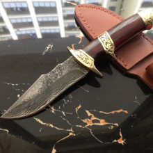 Damascus Handmade Hunting Knife. Top Quality. Comes with a sheath