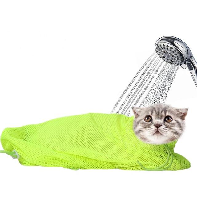 Nuevo Estilo de Moda de Malla Bolsa Cat Grooming Bañarse No Rascarse ...