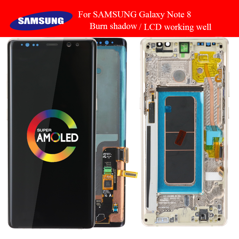 SUPER AMOLED 6.3'' Display with Burn Shadow LCD for SAMSUNG Galaxy Note8 N9500 N950F N900D N900DS LCD Touch Screen Digitizer-in Mobile Phone LCD Screens from Cellphones & Telecommunications