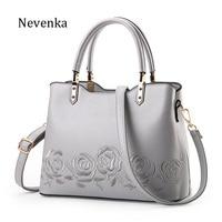 Nevenka 2017 New Women Bag Zipper Handbag Quality Flower Bags Embroidery Tote Lady National Bag Female