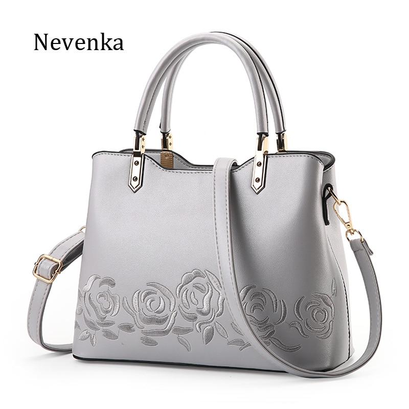 Nevenka 2018 Women Bags Fashion Handbag Flower Top-Handle Bags Brand Tote Bags Shoulder Messenger Bags