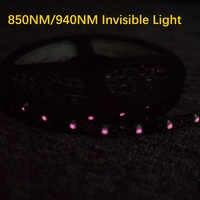Светодиодный ИК-лента 850nm 940nm Fita полосы светильник SMD3528 2 м 5 м 60 Светодиодный s/M Ir гибкая лента светодиодная лампа полосы светодиод DC12V