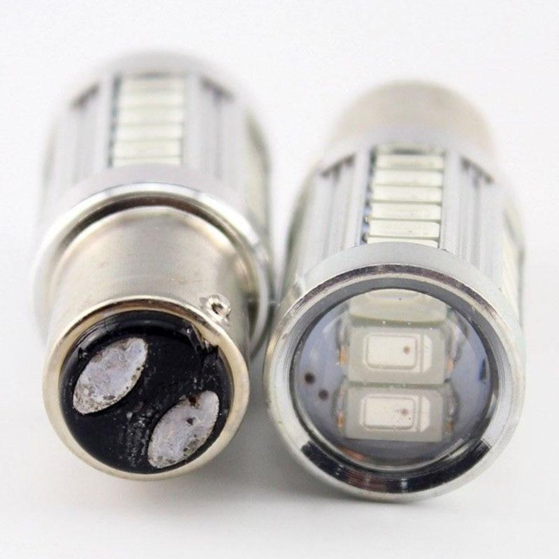 Mayitr 2PCS 1157 BAY15D 33 SMD 5730 Car Led Lights Emergency Stop Brake Tail Lamps Auto Rear Reverse Bulbs Red Light