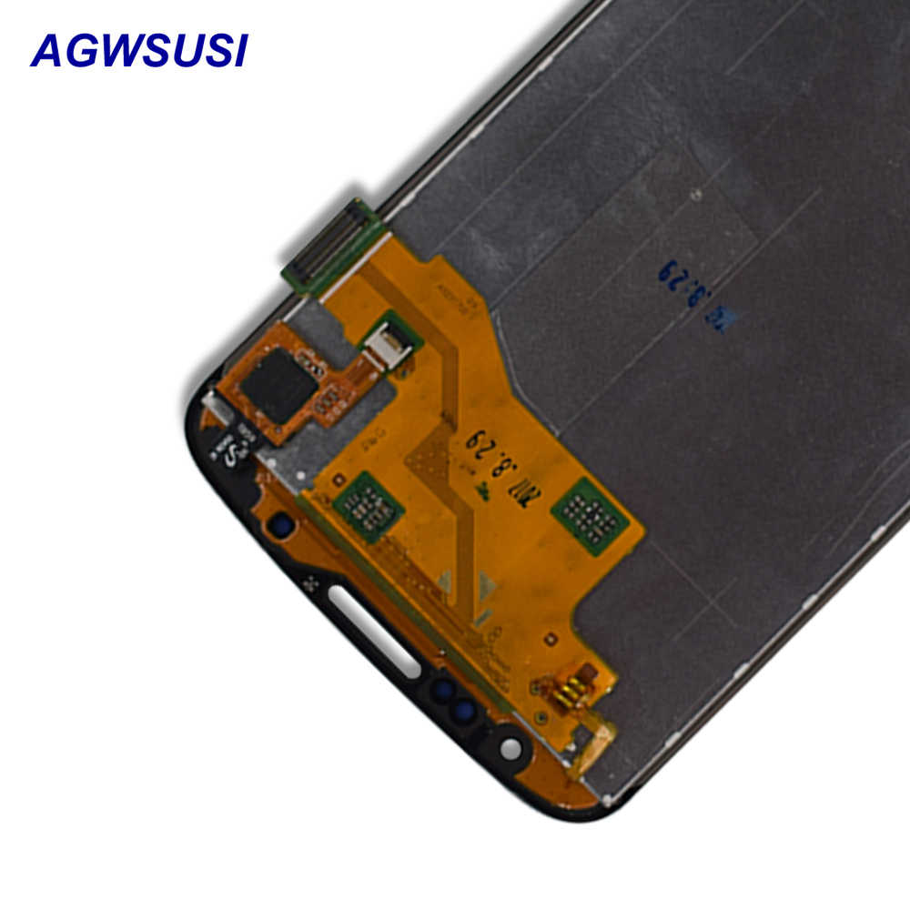 لسامسونج غالاكسي S4 النشطة i9295 i537 محول الأرقام بشاشة تعمل بلمس الاستشعار الزجاج لوحة + شاشة الكريستال السائل شاشة رصد لوحة الجمعية