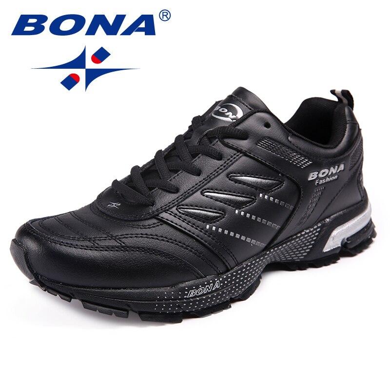 BONA החדש הגעה קלאסיקות סגנון גברים ריצה פעולת נעלי עור גברים נעלי ספורט חיצוני ריצה מהירה נעלי משלוח חינם