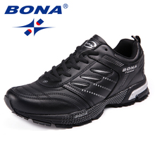 BONA New Arrival Classics Style Men Running Shoes Action Leather Men Athletic Shoes Outdoor Jogging Sneakers Fast Free Shipping стоимость