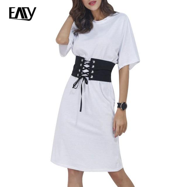 T shirt jurk korte mouw