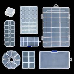 2019 Новый 6 размеров круглый Пластик коробка для хранения для ювелирных изделий Бусы, Серьги Регулируемая Ювелирные изделия Контейнер