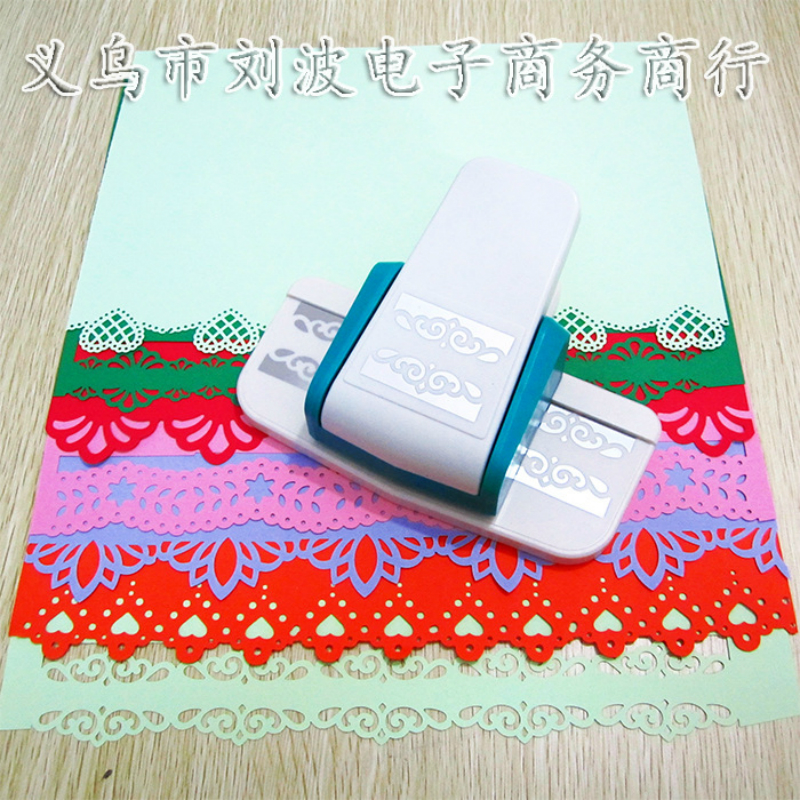 Large three dimensional fancy border embossing punch for Paper cutter for crafts