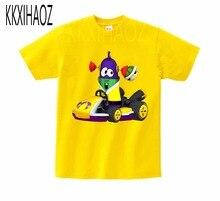VeggieTales Larry The Cucumber Short Sleeve T- Shirt 2019 Newest Boys and Girls summer Pure cotton sleeve Tshirt MJ