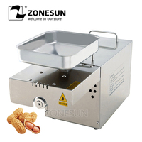 ZONESUN Automatic Commercial Grade 304 Stainless Steel seed cold Oil Press Machine Nut Seed Presser High Oil Extraction