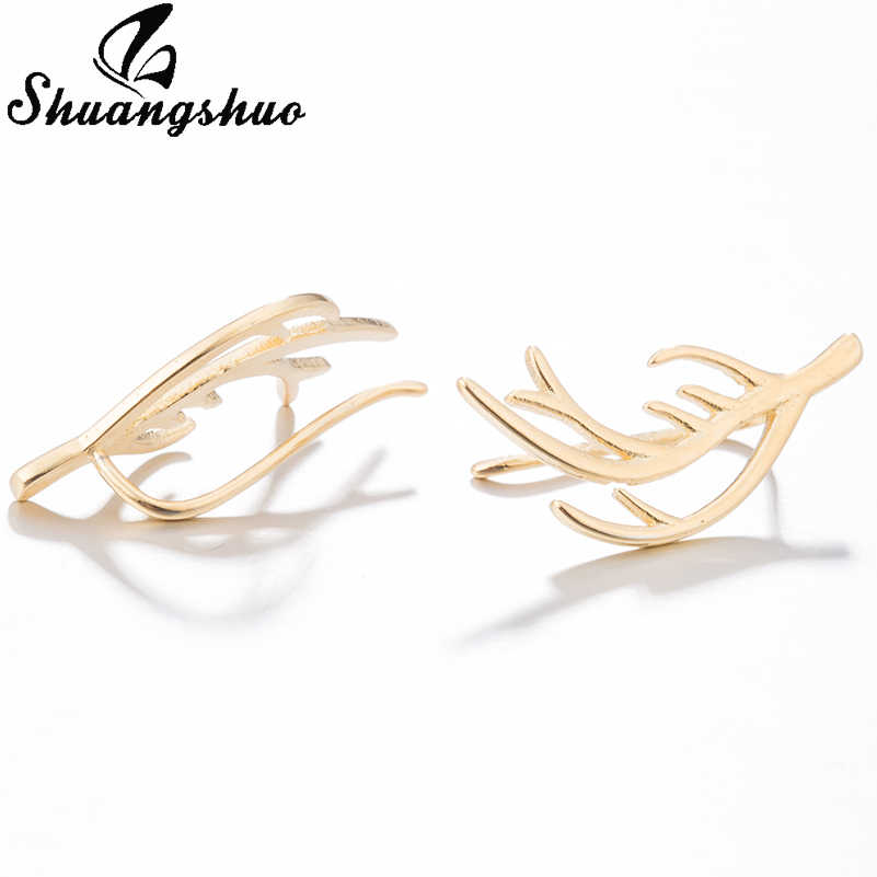663eea8e1 ... Shuangshuo Luxury Deer Antler Earrings Deer Horn Ear Pin Stag Ear  Climber Horn Ear Crawler Rein ...