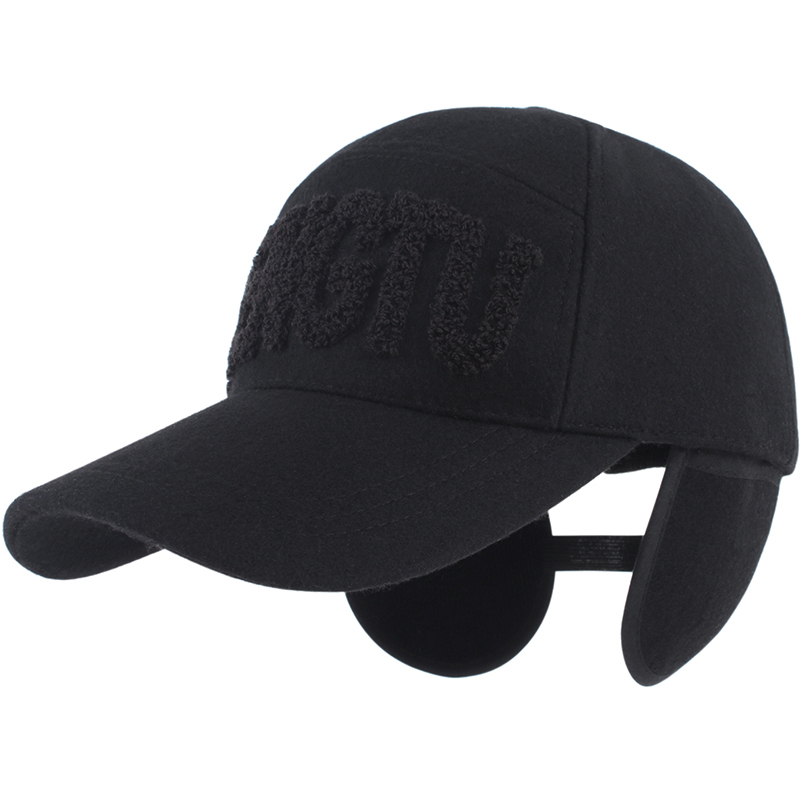 a6dc736de960c1 Male hat fashion autumn and winter ear protector cap thickening warm hat  male baseball cap cotton hat winter hat for man -in Baseball Caps from Men's  ...