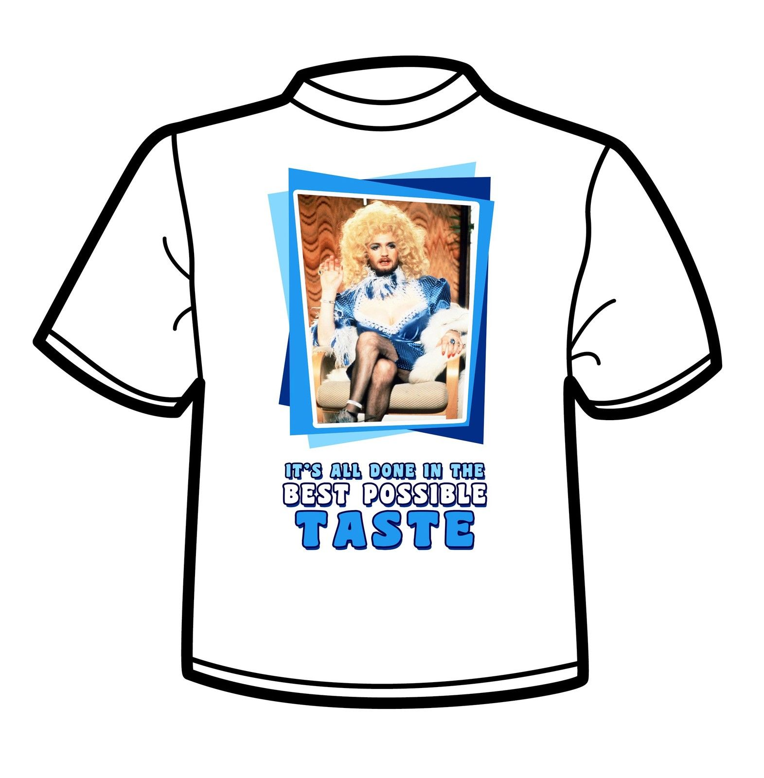 Funny Male T Shirt Kenny Everett Best Possible Taste Cupid Stunt