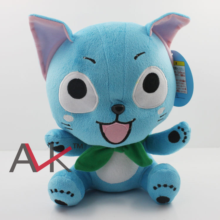 Free shipping 5pcs/lot Anime Cartoon Fairy Tail Happy Cat Plush Toy Soft Stuffed Dolls 10 25cm Boys Birthday Chritmas Gift women s fashionable fluffy strapless yarn wedding dress white size l