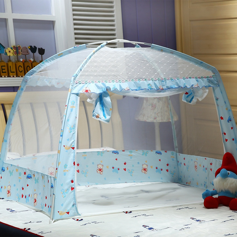 Pink/Blue Summer Baby Bed Mosquito Net Folding Children Bed Mosquito Netting Portable Baby Bed Canopy Baby Crib Netting Tent