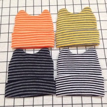 2019 Autumn and Winter New Boys Girls Baby childrens hat Striped Cat Ears Spring Hat Cotton Line Head cap