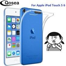 10 piezas suave transparente TPU casos para Apple iPod Touch 5 5 5 6 6 7 caso silicona protectora para iPod Touch 5 5 5 6 6 7 a Capa cubierta