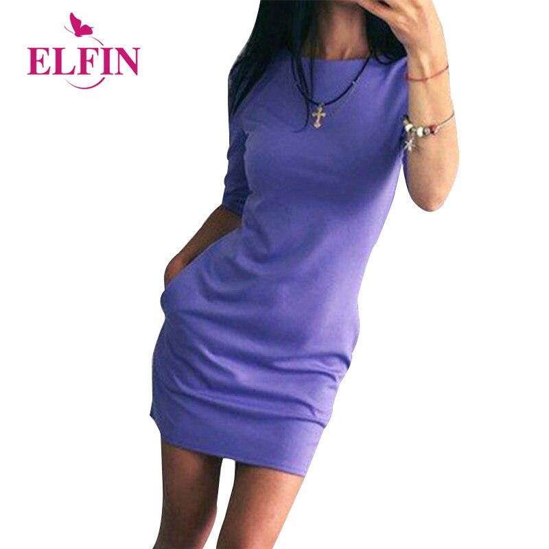 Tienda Online Oficina Vestidos mujeres verano vestido Scoop cuello ...