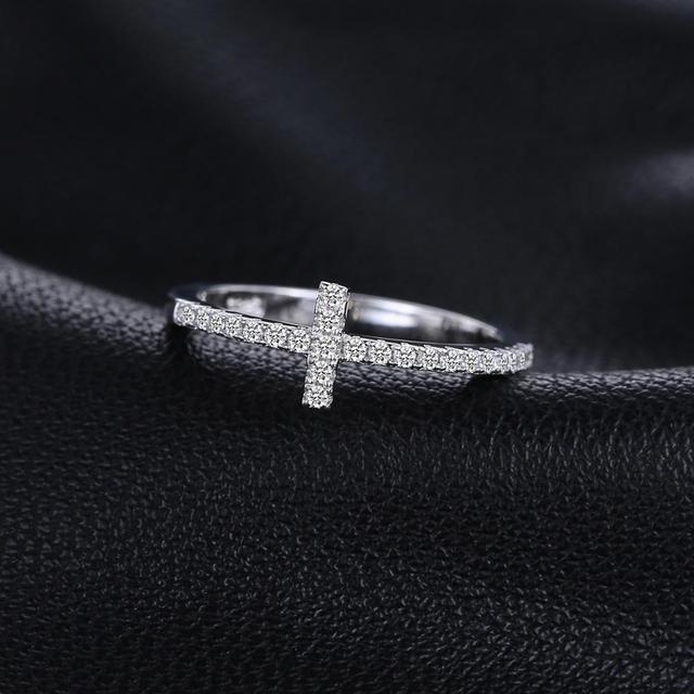 Cross Sterling Silver Ring