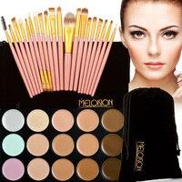 1Pc Pro15 Colors Contour Face Cream Makeup Blush Concealer Palette 20Pcs Pink Cosmetic Brushes Kit Practical