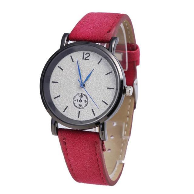 Quartz Wristwatches  Reloj Mujer  PU Leather Strap Simple    Women Watch Luxury Brand  Fashionable Clock  Watches  18JAN4
