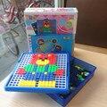 DIY сборка игрушки пластиковые головоломки для детей разведки геометрия сборки детские игрушки гриб гвоздя Творческая Мозаика головоломки игры