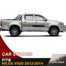 2PC free shipping hilux racing side stripe graphic Vinyl moutain sticker for TOYOTA HILUX revo and vigo 2012-2018 все цены