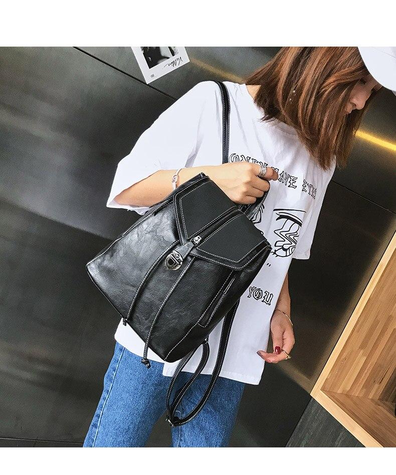 HTB11ET2bRCw3KVjSZR0q6zcUpXas Vintage Matte Leather Women Backpacks High Quality Multifunctional Shoulder Bag Female Girls Backpack Retro Schoolbag XA533H
